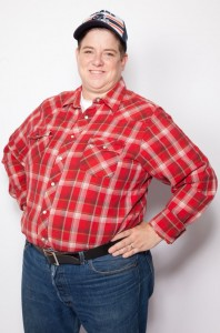 """Leigh Crow as Dan in """"Roseanne"""", image Courtesy Velvet Rage Productions"""