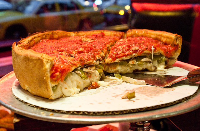 deep dish pizza drunk food
