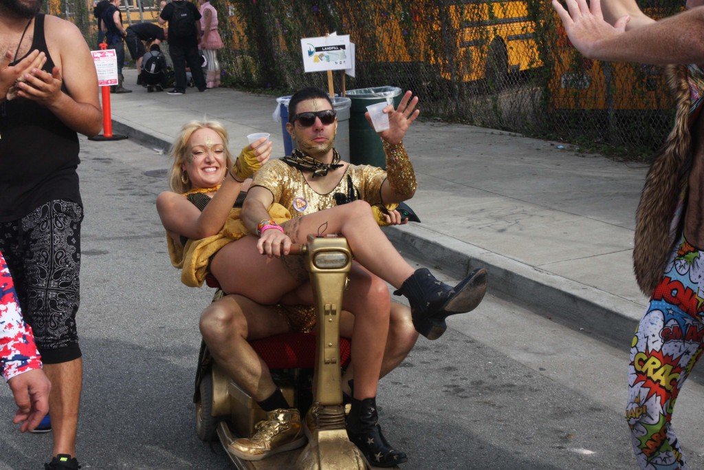 gold scooter