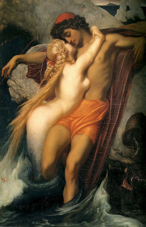 """""""The Fisherman And The Syren,"""" Frederic Leighton"""