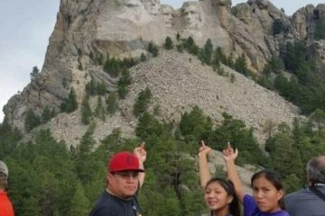Flipping Off Mt. Rushmore