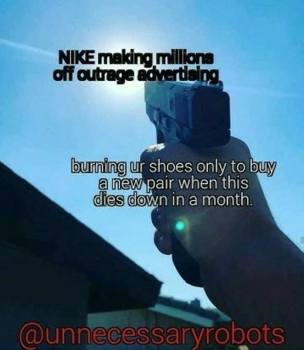 Nike meme Outrage Marketing