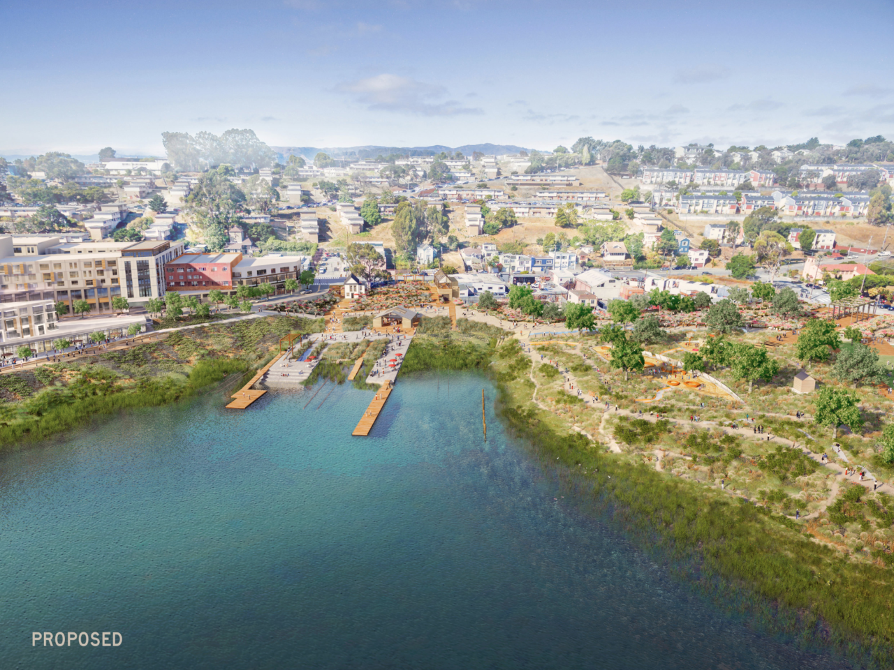 Here's what the developers propose the new park and development will look like